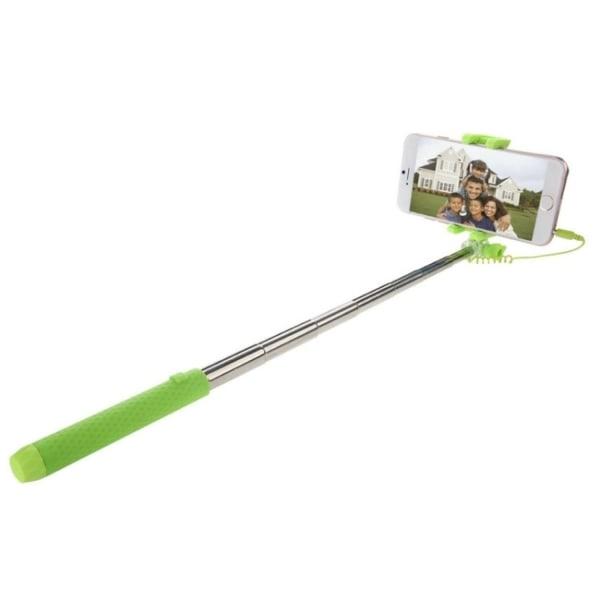 Selfiestick med lukker og GoPro monopod - kompakt (grøn) Green