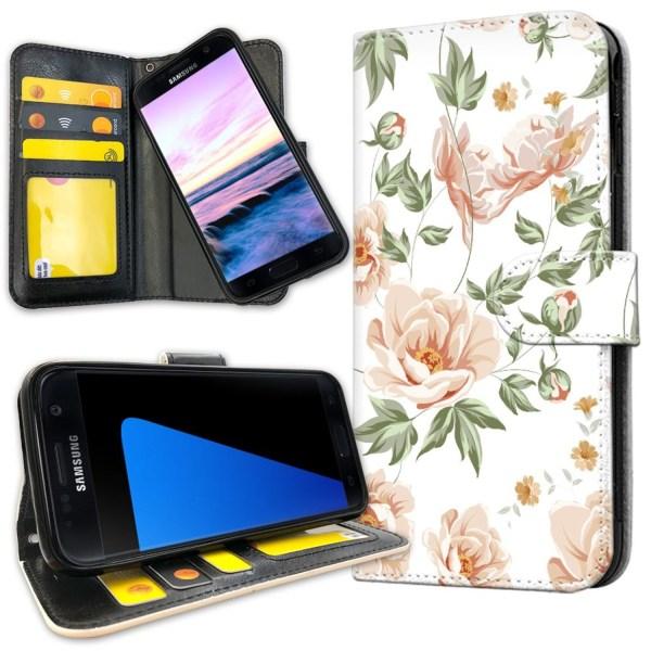 Samsung Galaxy S7 - Mobilfodral Blommönster