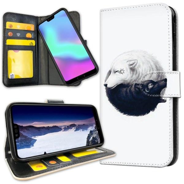 Huawei Honor 10 - Mobilfodral Yin och Yang Vargar
