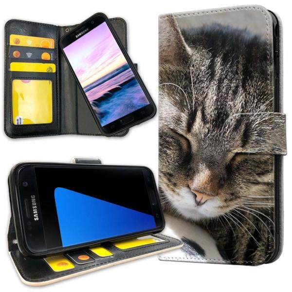 Samsung Galaxy S7 Edge - Mobilfodral Sovande Katt