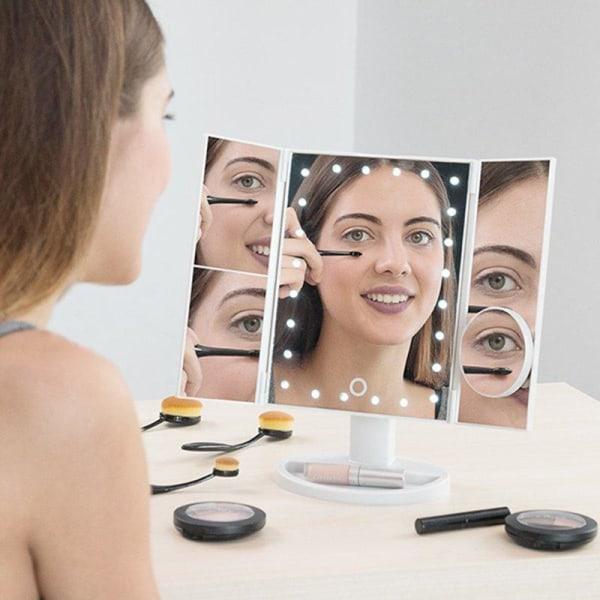 4- i -1 Sminkspegel Led - Spegel för Smink - Sminkbord