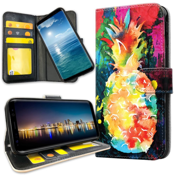 OnePlus 5T - Mobilfodral Regnbåg Ananas