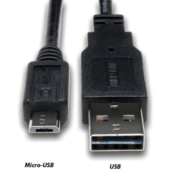 5-Pack - 1m Laddare för Micro-USB / PS4 - Fast Charge - Flätad Svart