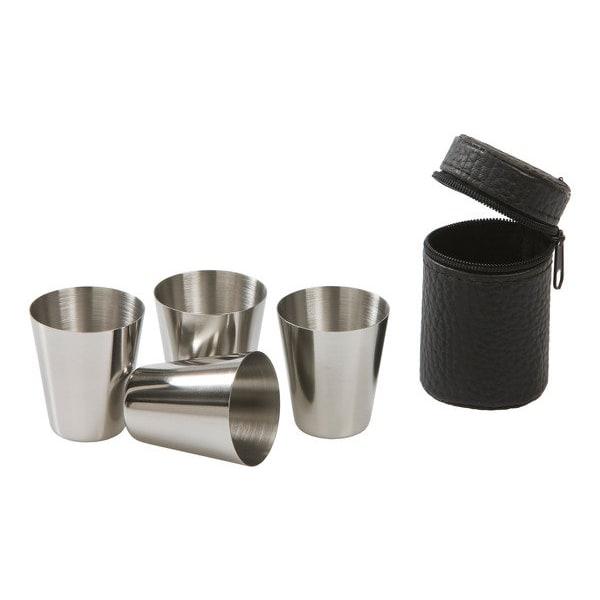 Snappskoppar - Snappien kupari - 4 -pakkaus ruostumatonta