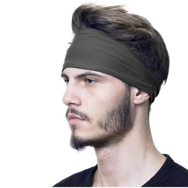 Pannband / Svettband / Hårband - Mörkgrå grå