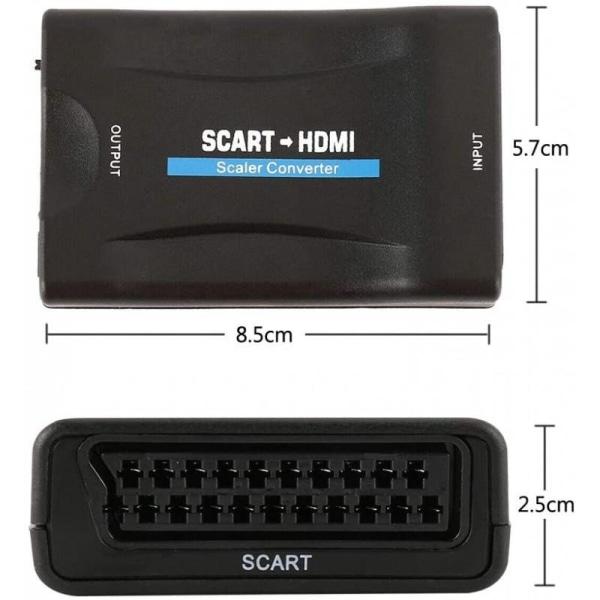 SCART till HDMI Omvandlare 1080p - Adapter