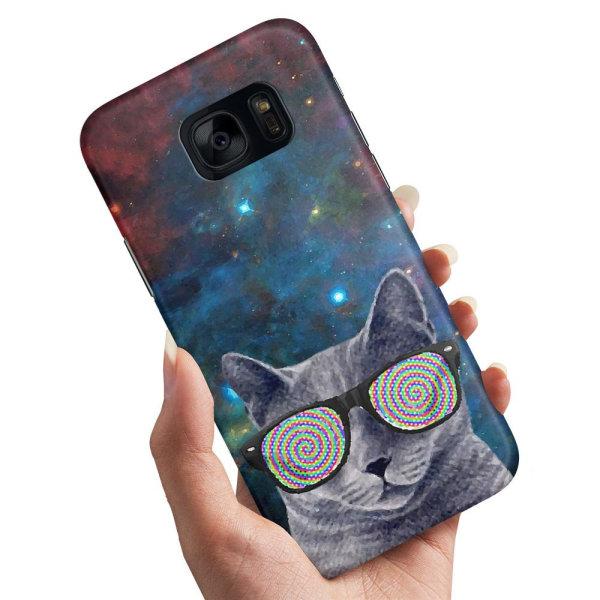 Samsung Galaxy S7 - Skal / Mobilskal Cat Space