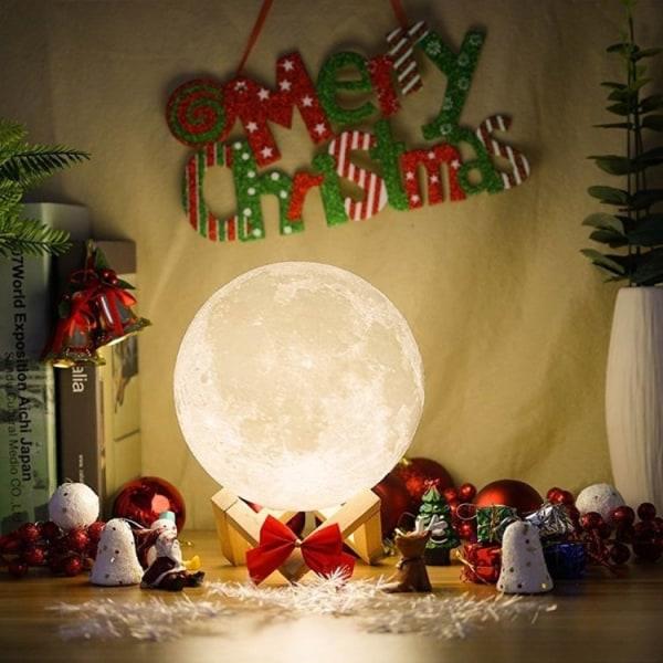 Lamp - Moon Lamp / Moonlight - 15cm - Säädettävä väri