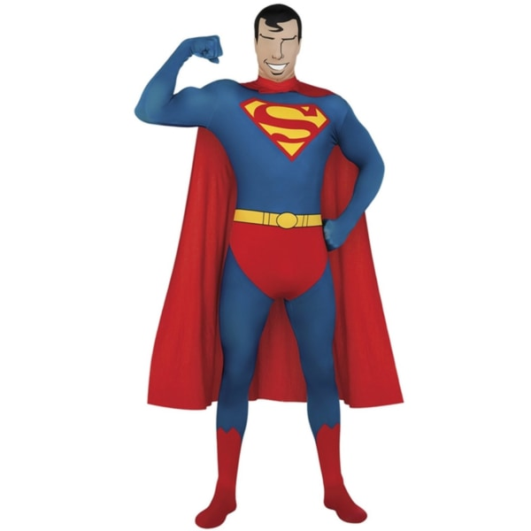 Superman / Stålmannen, Slimmad Dräkt, Maskerad - Large  - Hallow