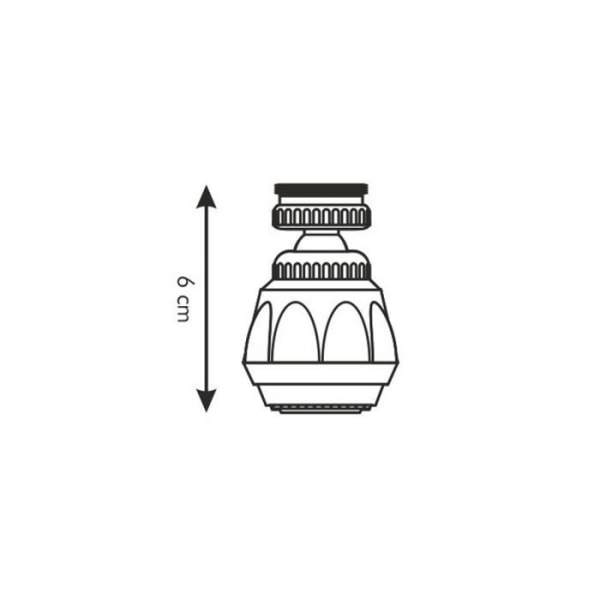 Munstycke till Kran - 360° Roterande Kökskran Adapter Svart