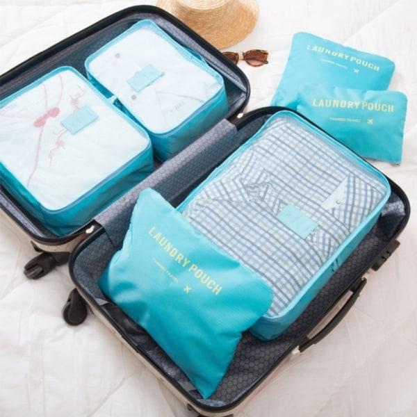 6-i-1 Innerväska / Små Väskor till Resväska Mörkblå