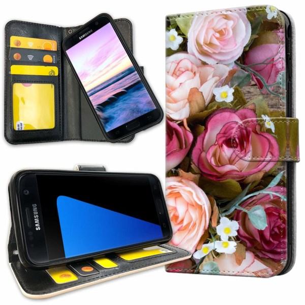 Samsung Galaxy S7 Edge - Mobilfodral Blommor