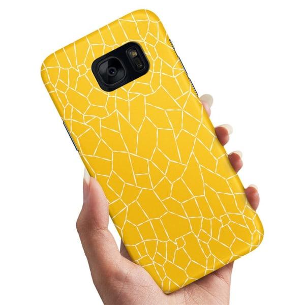 Samsung Galaxy S7 Edge - Skal / Mobilskal Gult Mönster Gul