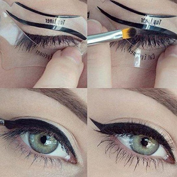 Eyeliner Mall / Stencil - Kattögon & Smokey Eyes Transparent