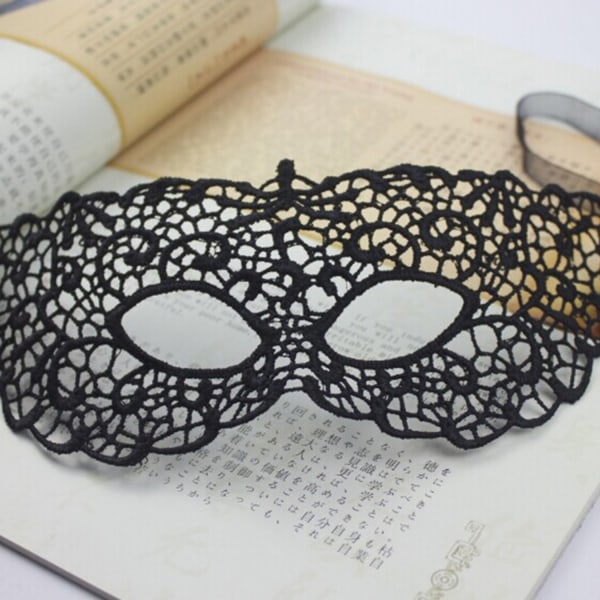 Maske / øjenmaske med sort blonde Black