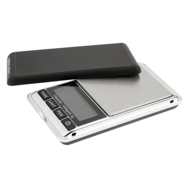 Ammattimainen digitaalinen vaaka / taskuvaaka kannella (0,1 g-1000 g)