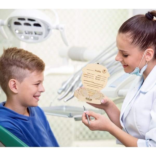 Tandkasse til børn (pige) - Opbevaringsboks til børnetænder