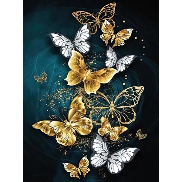 Diamond Painting / DIY 5D Diamantmålning - 30x40cm - Fjärilar