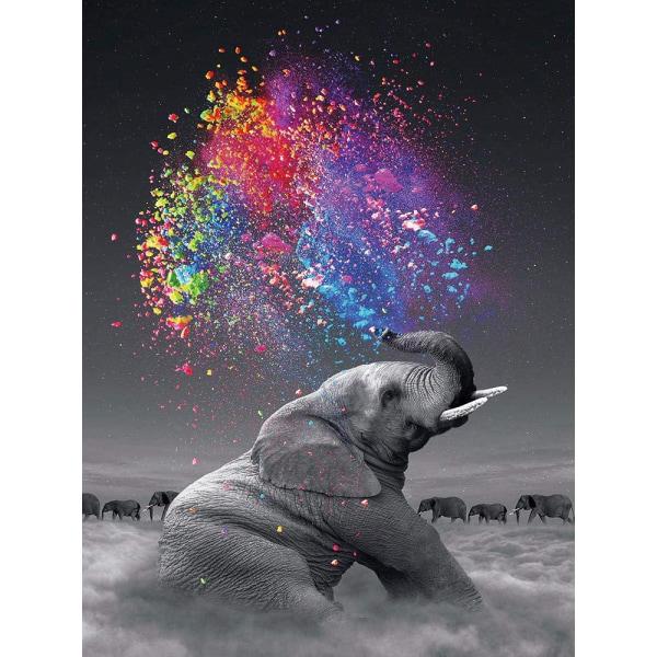 Diamond Painting / DIY 5D Diamantmålning - 30x40cm - Elefant
