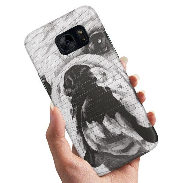 Samsung Galaxy S7 Edge - Skal / Mobilskal Hund Graffiti