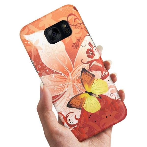 Samsung Galaxy S6 - Skal / Mobilskal Fjäril & Blomma