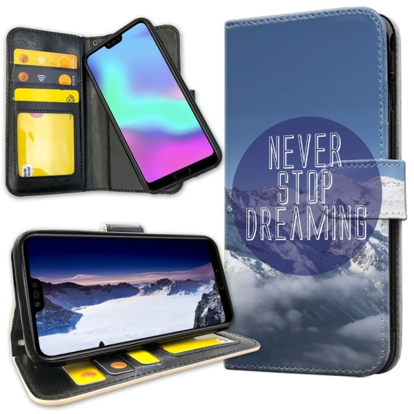 Huawei Honor 10 - Mobilfodral Never Stop Dreaming