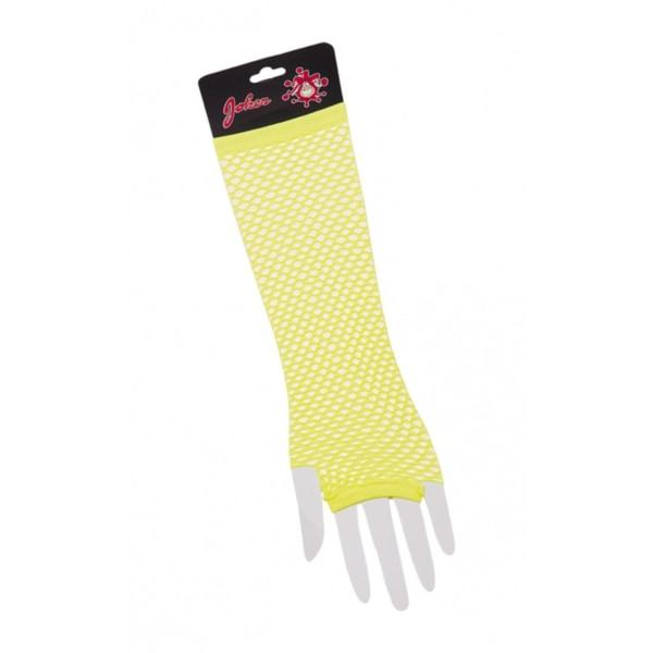 Mesh handsker gul - Halloween & maskerade Yellow