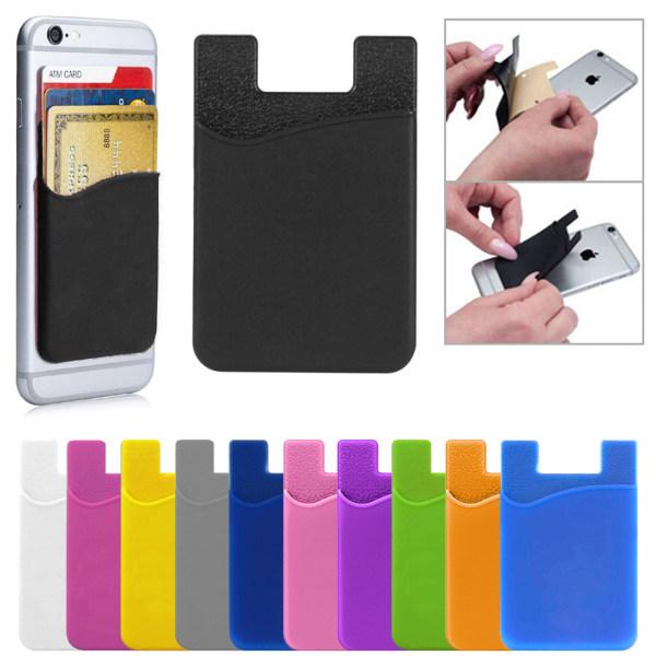 2-Pack - Korthållare till Mobil med Dubbelhäftande Tejp Black Svart