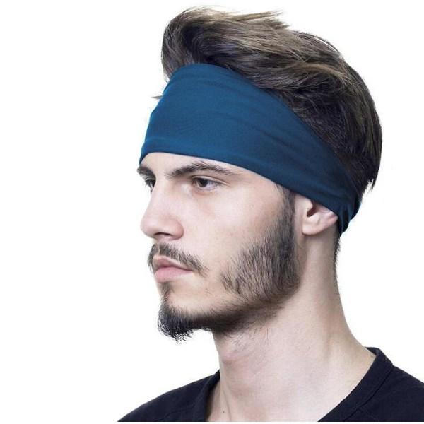 Pannband / Svettband / Hårband - Mörkblå Mörkblå