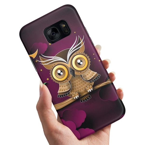 Samsung Galaxy S7 - Skal / Mobilskal Ljusbrun Uggla Brun