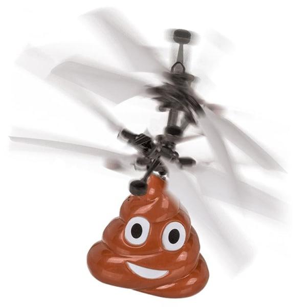 Poop makkara Mini -radio -ohjattu helikopteri - Itselentävä Brown