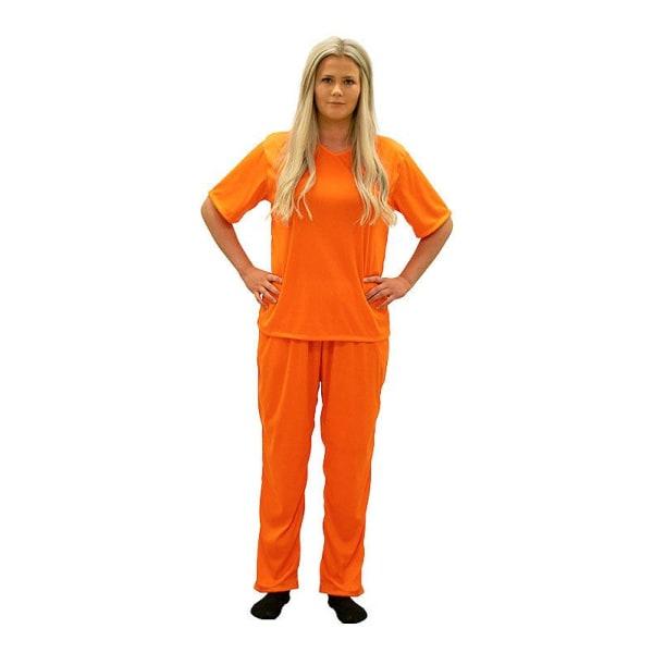 Vangin puku - Oranssi vangin naamiaisasu - keskikokoinen