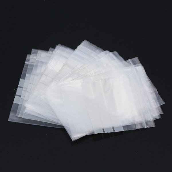 100 -pak - 17,5x30 cm lynlås / lynlåslåse Skrivefelt / lynlås