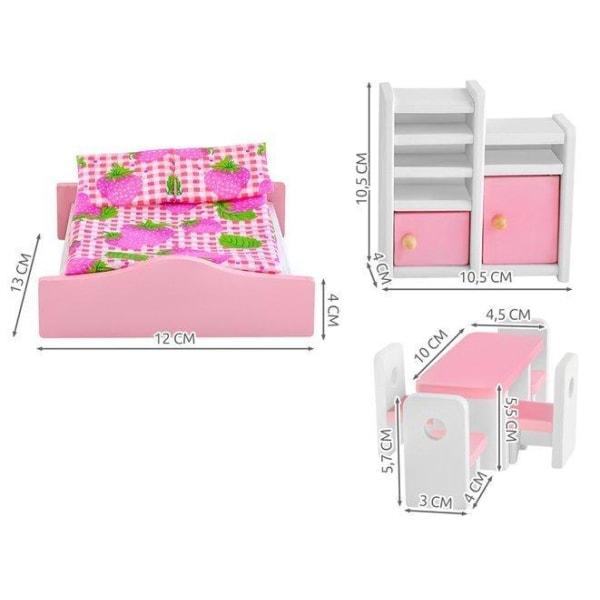 Dollhouse -huonekalut - Dollhouse -huonekalut (27 -osainen) Pink