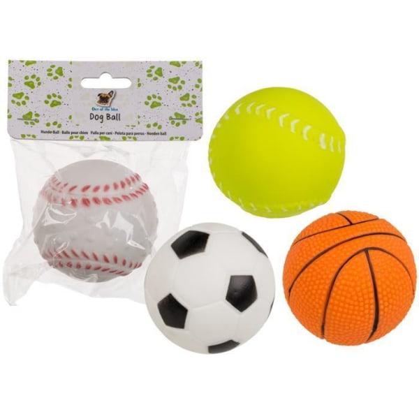 Hundelegetøjskugle / gummikugle - Legetøj til en hund, der bipper Basketboll