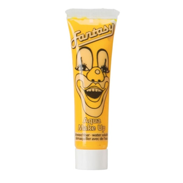 Kasvojen väri / Meikki putkessa Keltainen - Halloween ja naamiointi Yellow