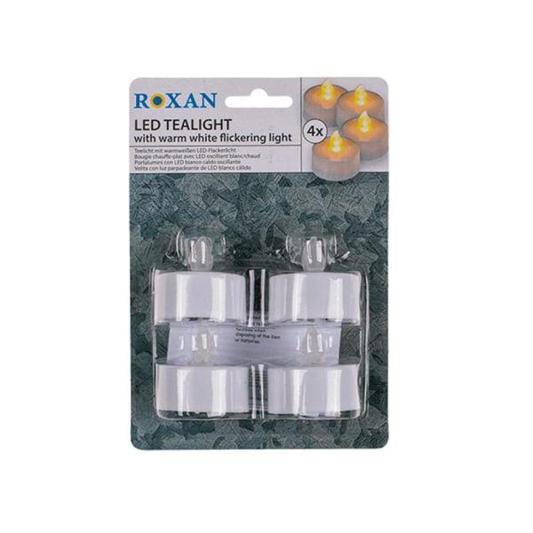 Paristokäyttöiset lämpökynttilät / LED-valot-4 kpl White