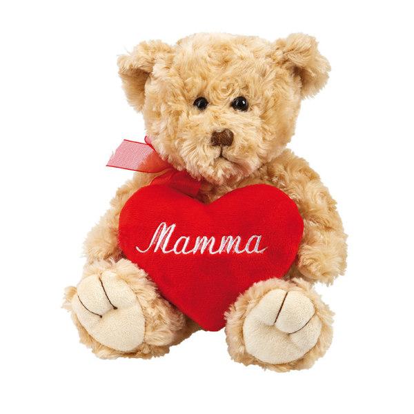 Nallebjörn med Hjärta Mamma - Gosedjur - Mors Dag