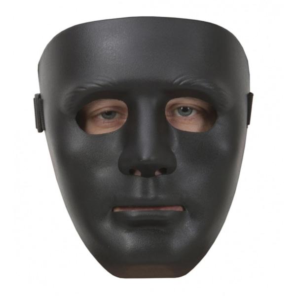 Statymask / Mask - Svart,   - Halloween & Maskerad Svart