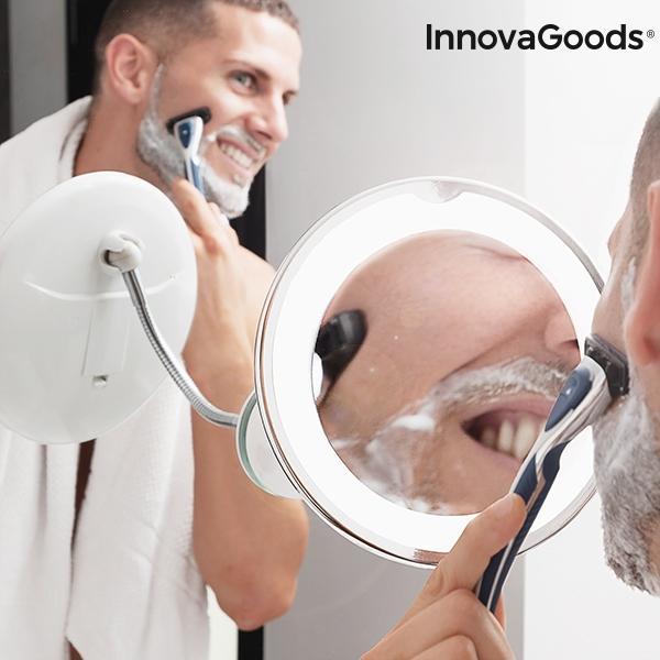 LED Förstoringsspegel med Sugkopp / Sminkspegel - Smink Spegel
