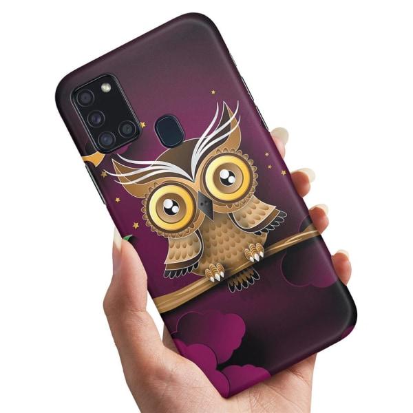 Samsung Galaxy A21s - Skal / Mobilskal Ljusbrun Uggla