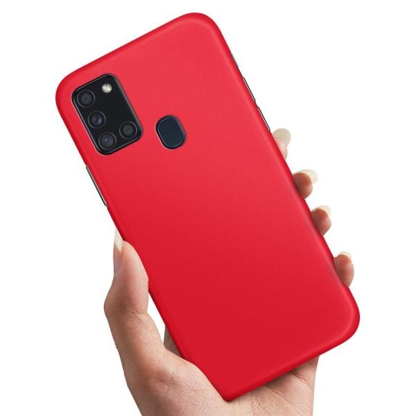 Samsung Galaxy A21s - Skal / Mobilskal Röd Röd