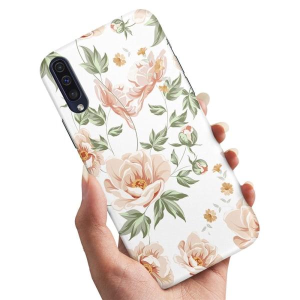 Samsung Galaxy A50 - Skal / Mobilskal Blommönster