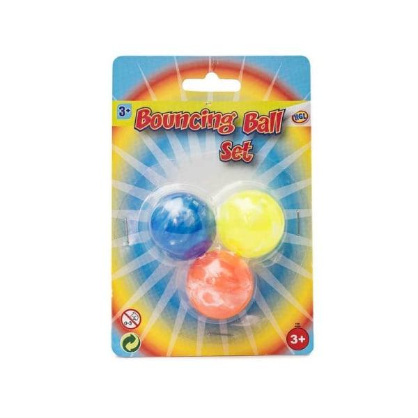 Studsboll / Gummiboll - (3-Pack) multifärg