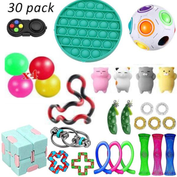 Fidget Toys Leksak Set 30-pack sensorisk leksak för barn vuxna