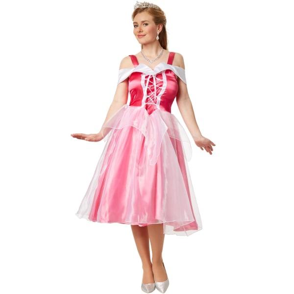 tectake Maskeraddräkt Prinsessan Aurora Pink XL