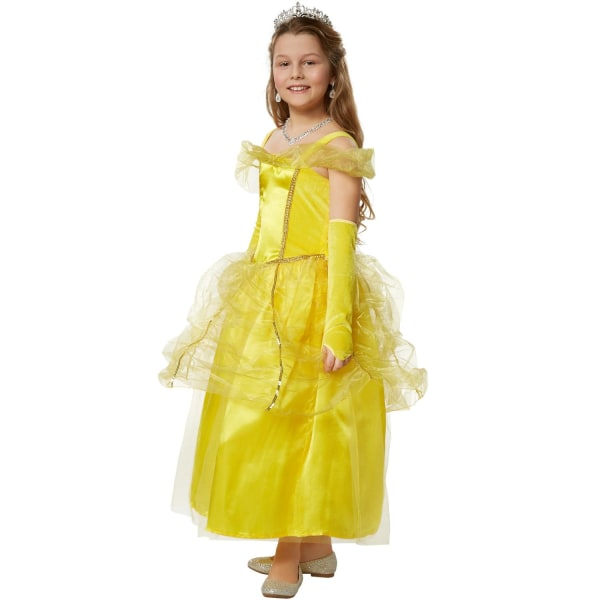 tectake Maskeraddräkt Flicka Prinsessan Belle Yellow 116