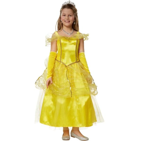 tectake Maskeraddräkt Flicka Prinsessan Belle Yellow 128