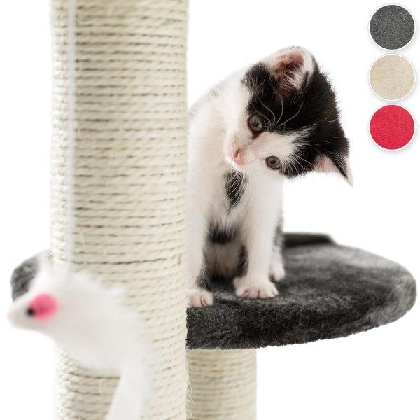 tectake Katt klösträd / klösmöbel Tommy grå