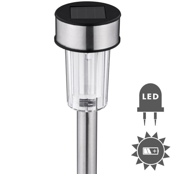 tectake 24 Solcellslampa LED Silver